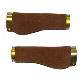 Puños Clarks ergonómicos gamuza marrón