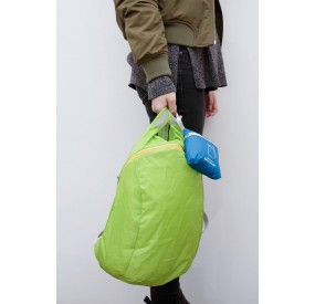 Mochila plegable ligera verde